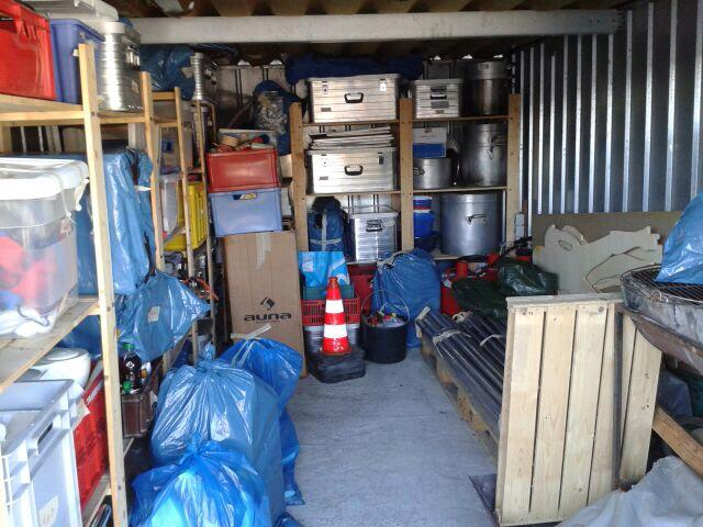 Chaos in Pfingstmaterial-Garage behoben