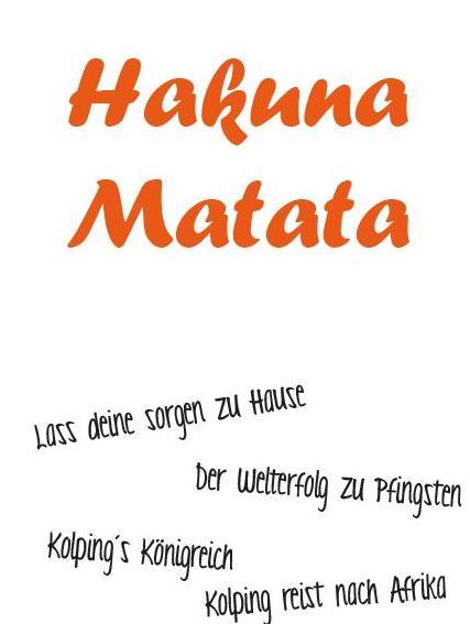 Pfingstzeltlager 2019 – Hakuna Matata