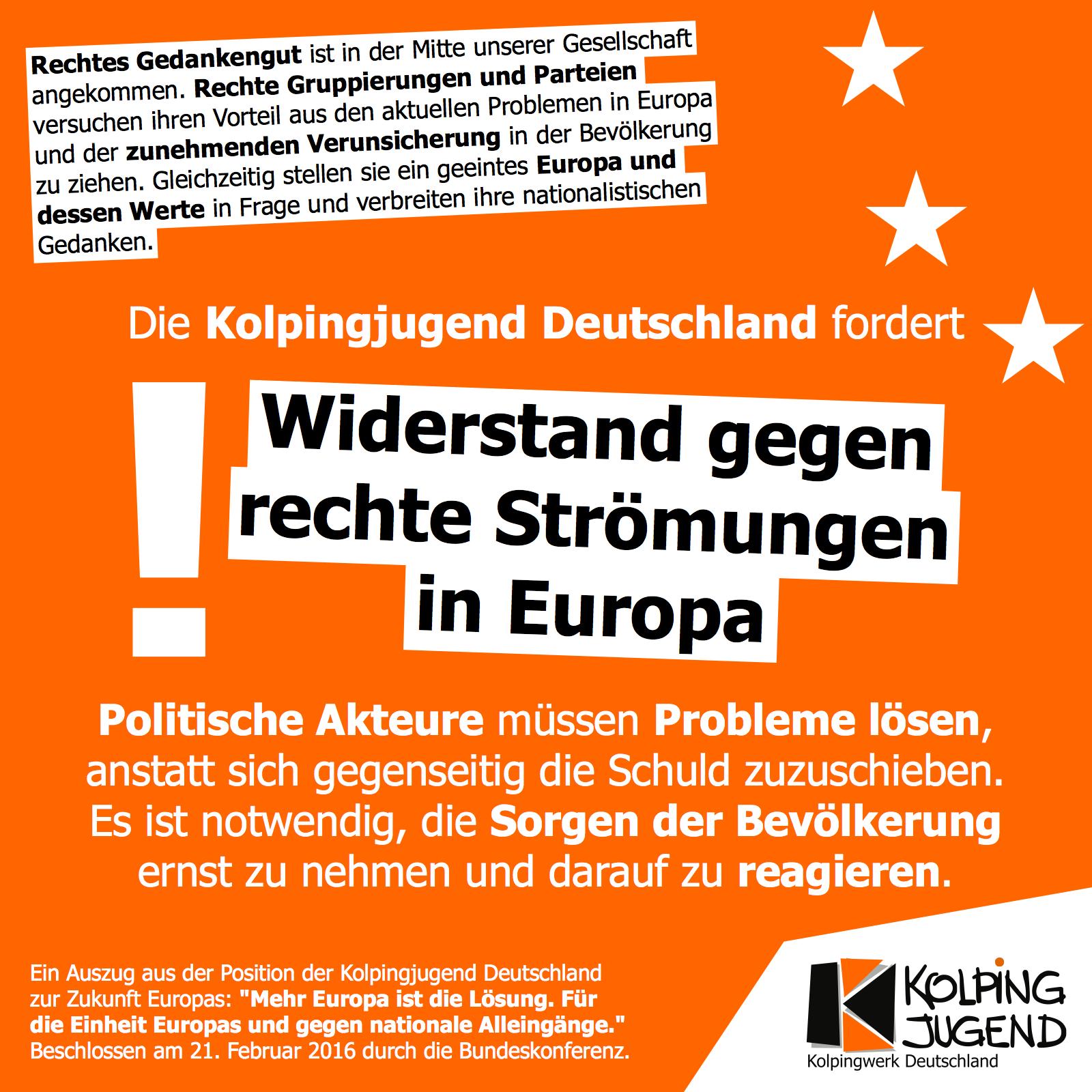 Mehr Europa ist die Lösung