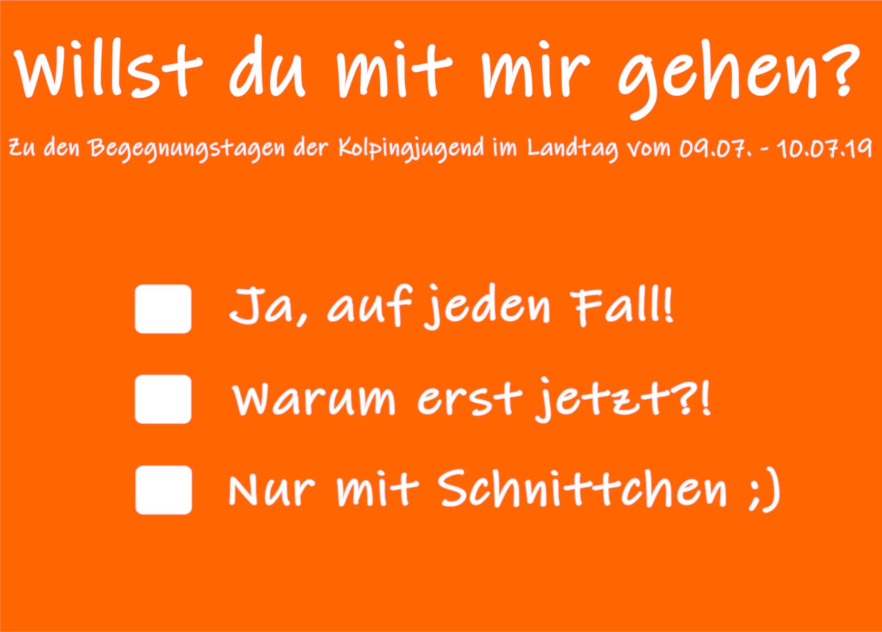 Willst du mit mir gehen? – Begegnungstage der Kolpingjugend NRW im Landtag